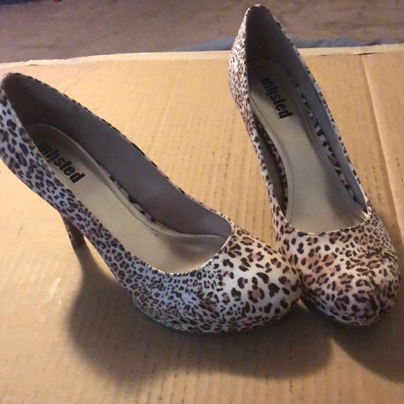 Unlisted Shoes - Women's size 11 cheetah print heels